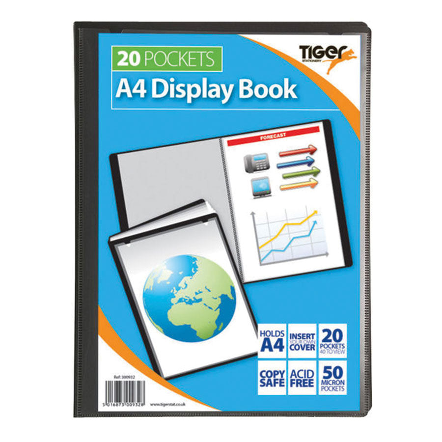 Tiger 20 Pocket Presentation Display Books