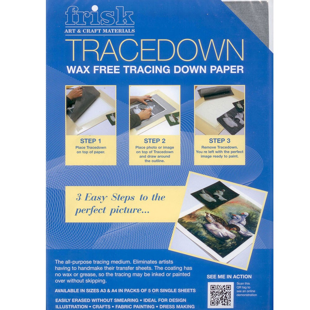 Tracedown Wax Free Tracing Down Paper - A3 - Pack of 5