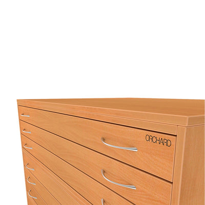 Wooden Plan Chest Traditional