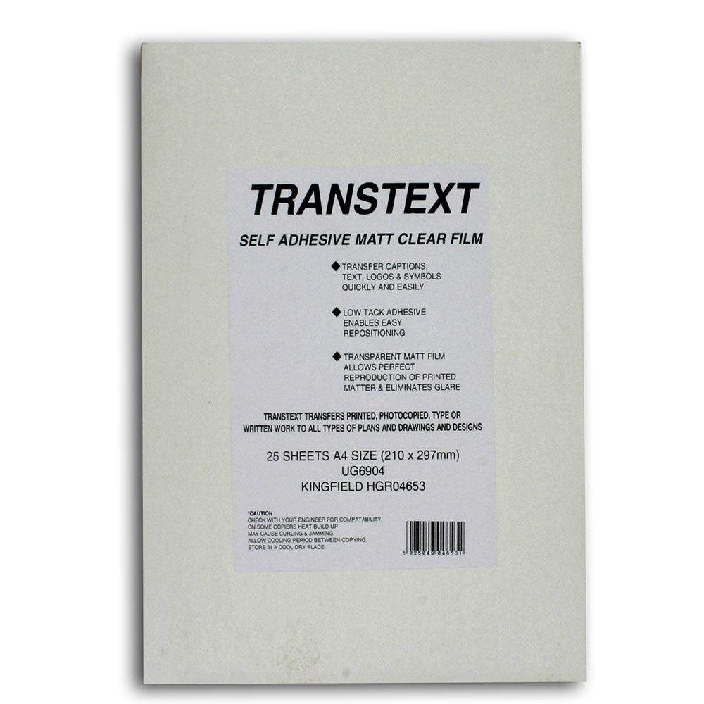 Transtext - A4 Pack of 25 Sheets