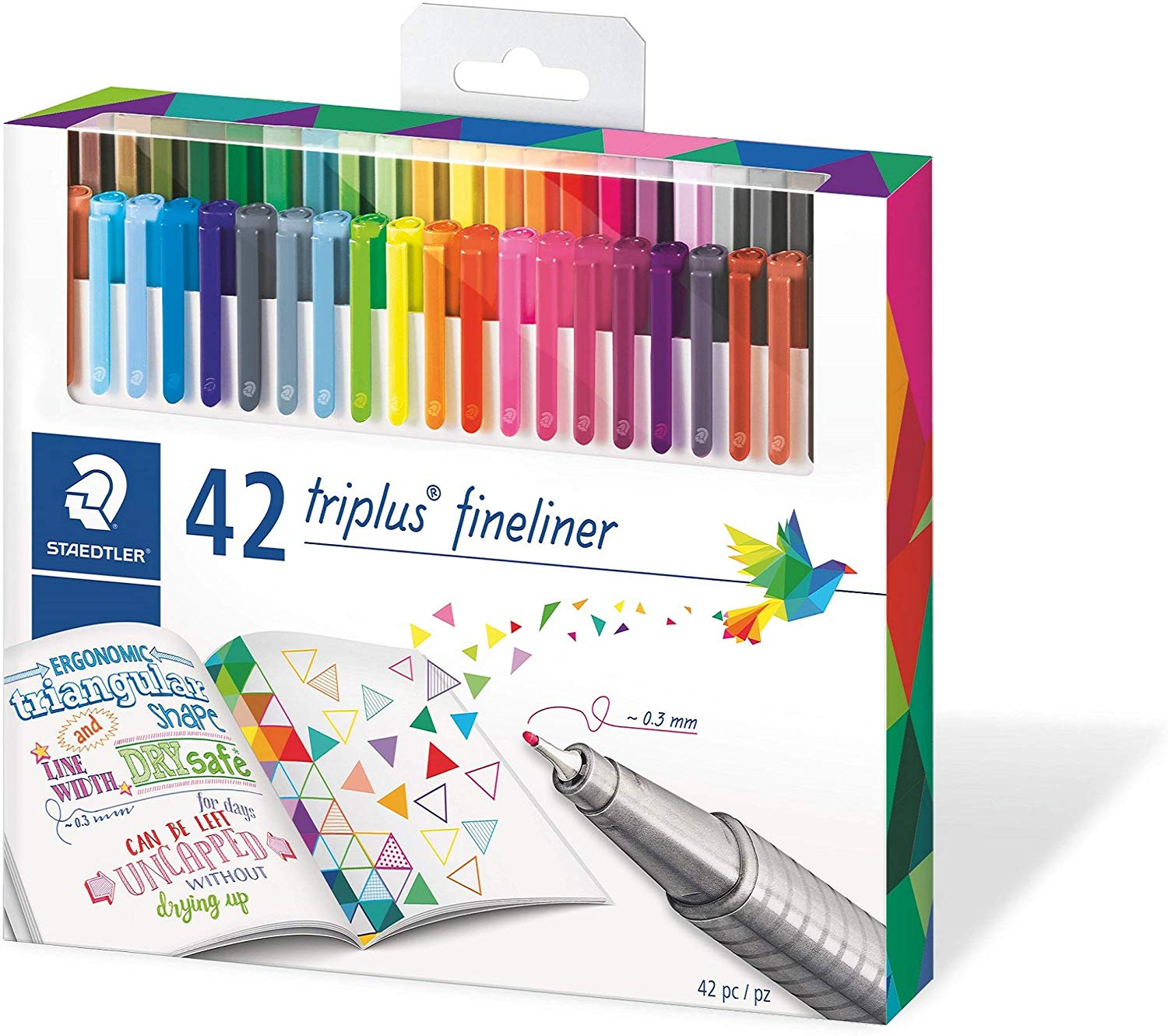 Staedtler Triplus Fineliner Pack of 42 Brilliant Colours