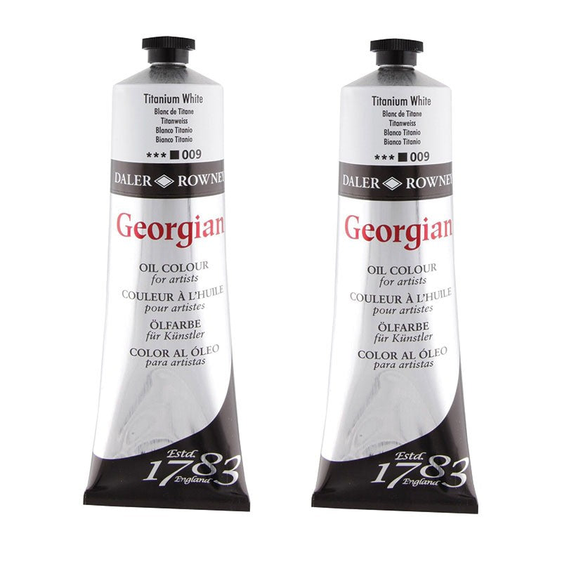Georgian Oil Colour tubes 225ml - Titanium White TWIN PACK - 225ml