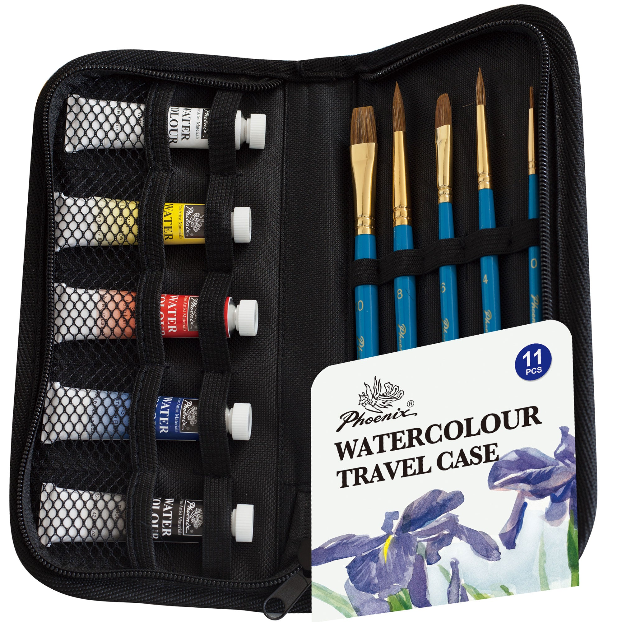 Watercolour Painting Travel Case 11pcs