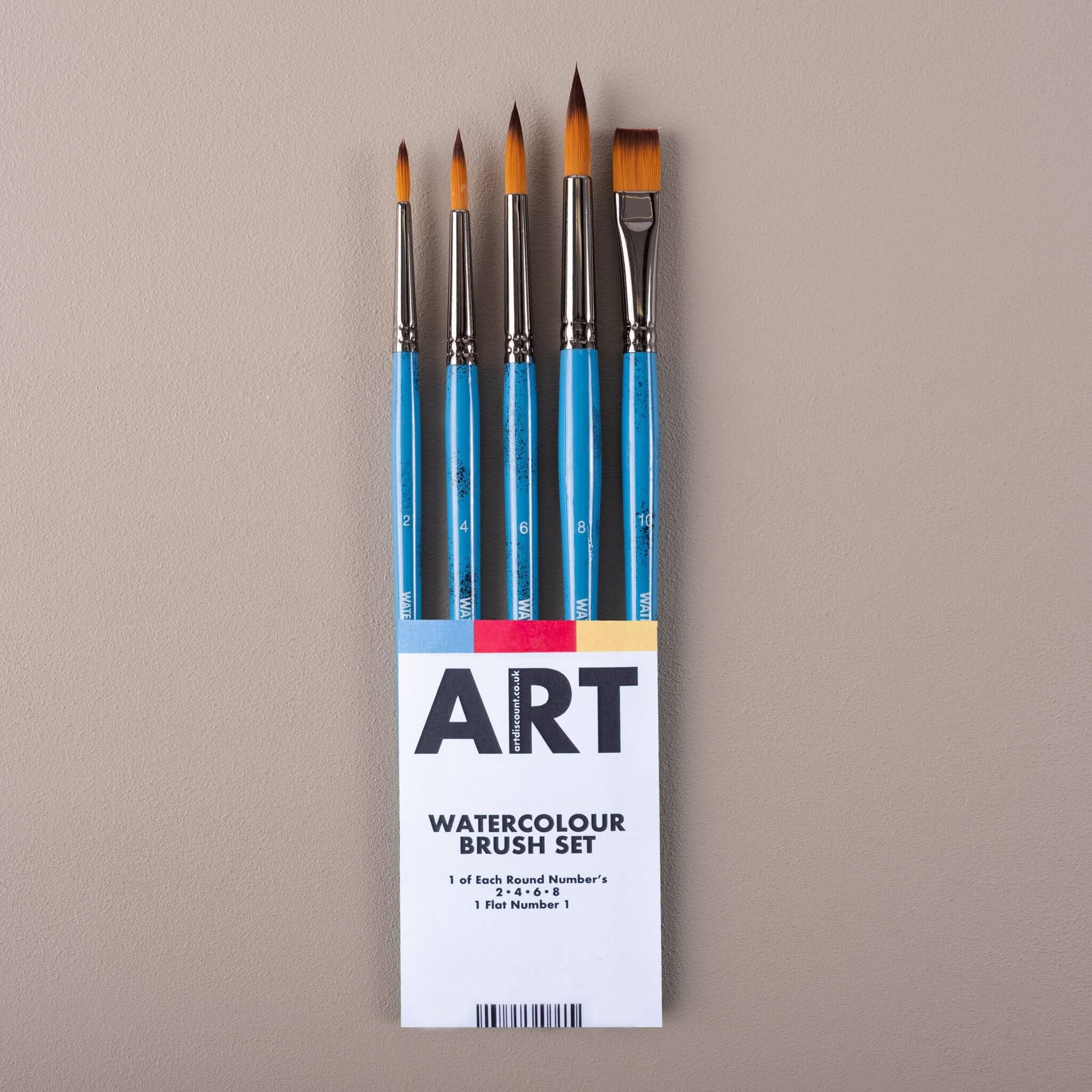 ARTdiscount SAMPLE Watercolour Brush Set of 5 Brushes