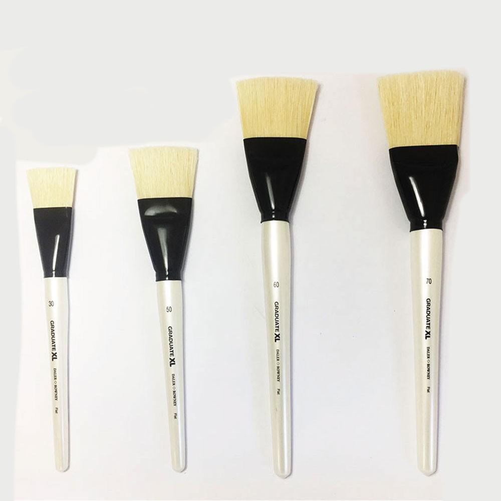 Daler Rowney Graduate XL White Bristle Flat Brushes