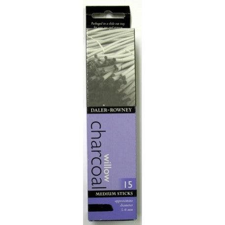 Daler-Rowney Willow Charcoal - Medium 15 Sticks
