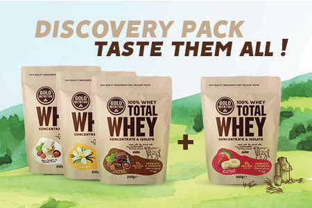 Nutri-Bay - GoldNutrition Total Whey Discovery Pack 3 + 1 gratis