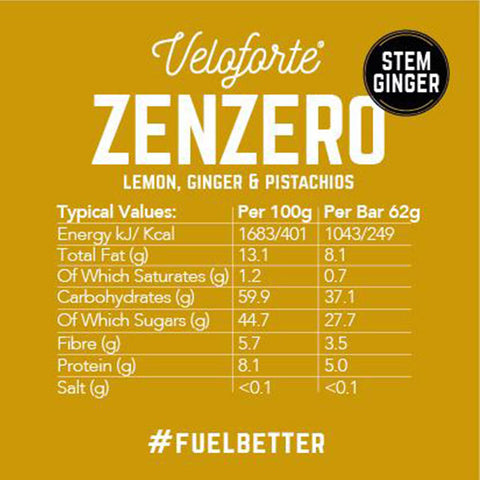 Veloforte-Zenzero Bar-Nutrition