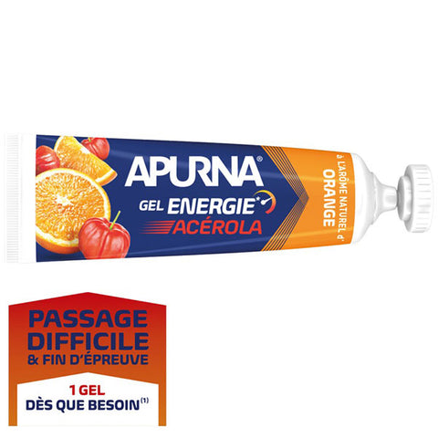 Nutri-Bay Apurna Gel Energie Passage Difficile Acérola (35g) - Orange