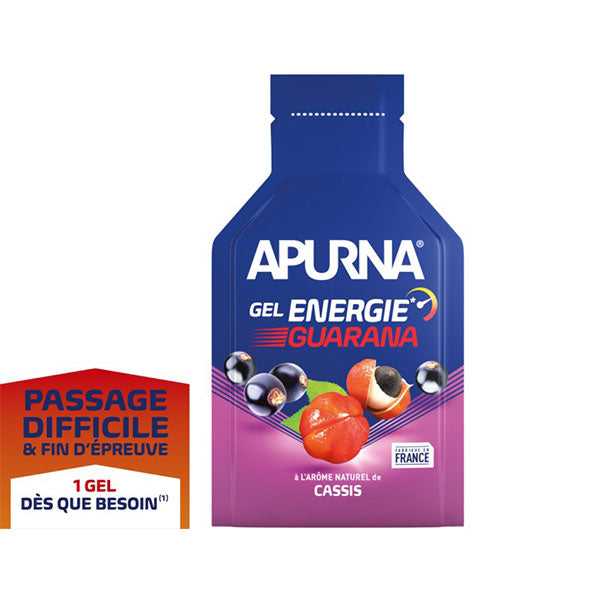 Nutri-Bay Apurna Gel Energie Passage Difficile Guarana (35g) - Cassis