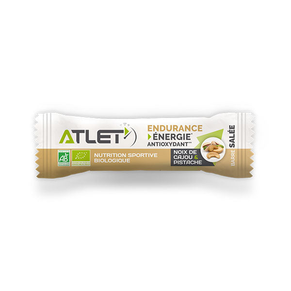 Nutri-Bay ATLET - Organic Energy Bar Salty (25g) - Pistachio Cashew Nuts