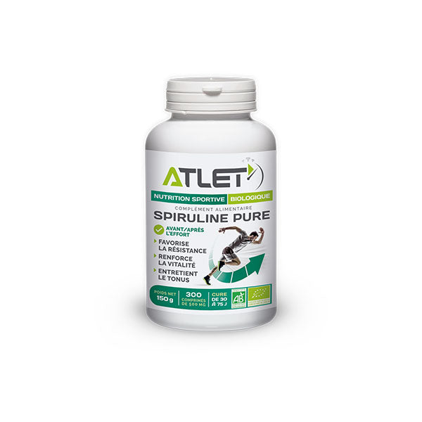 Nutri-Bay ATLET - Organic Spirulina (300 Tablets from 500mg)