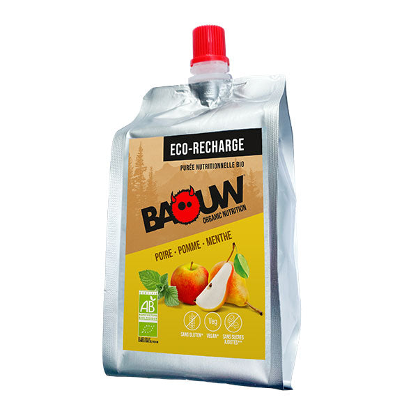 Nutri-bay | BAOUW Eco-Recharge - Organic Energy Mash (330g) - Pear-Apple-Mint