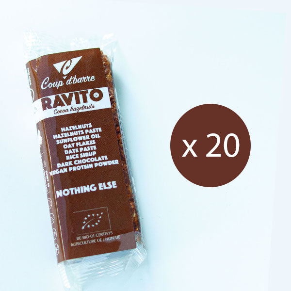 Nutri-bay | COUP D'BARRE Ravito Bar Maxi Pack 20x40g - Cocoa Hazelnuts