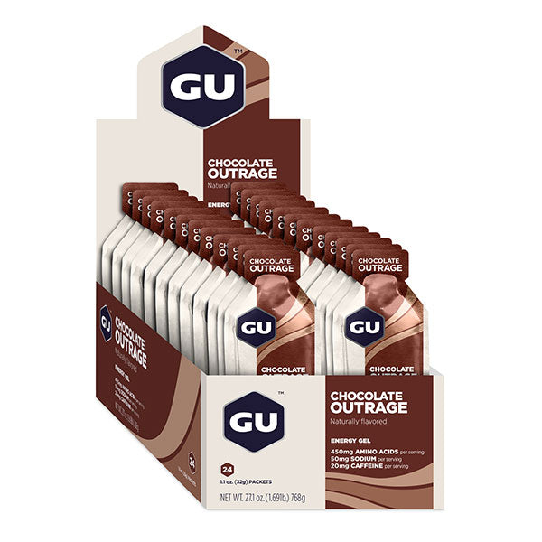 Nutri-Bay GU - Energy Energy Gel (32g) - Chocolate Outrage - scatola aperta