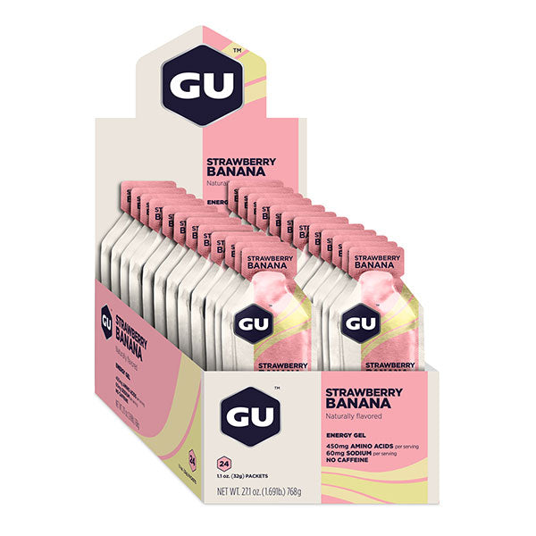 Nutri-Bay GU - Energy Gel (32g) - Strawberry Banana - Strawberry banana - caja abierta