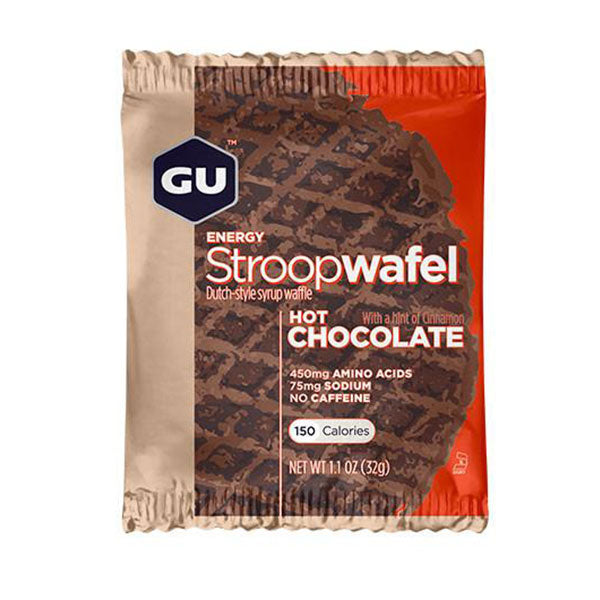 Nutri-Bay GU - StroopWafel - Gauffre Energétique Waffle - Gingerade - Hot Chocolate