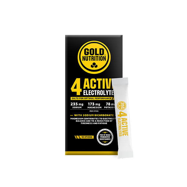 Nutri-bay | GOLD NUTRITION - 4 Active Electrolytes Sticks (10x3g) - Lemon-Lime