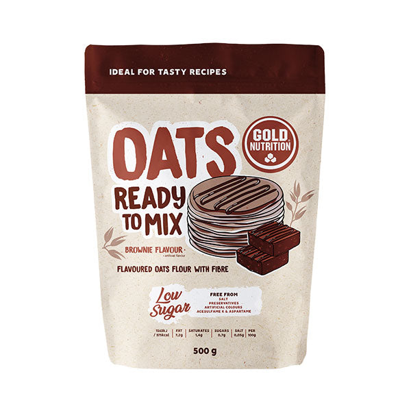 Nutri-bay | GOLD NUTRITION - Oats Ready to Mix (500g) - Brownie