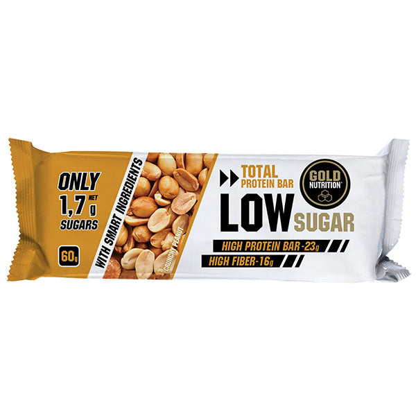 Nutri-bay | GOLD NUTRITION Protein Bar Low Sugar (60g) -Crunchy Peanut