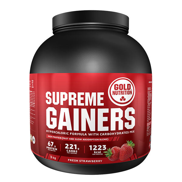 Nutri-bay | GoldNutrition - Supreme Gainers (3kg) - Strawberry