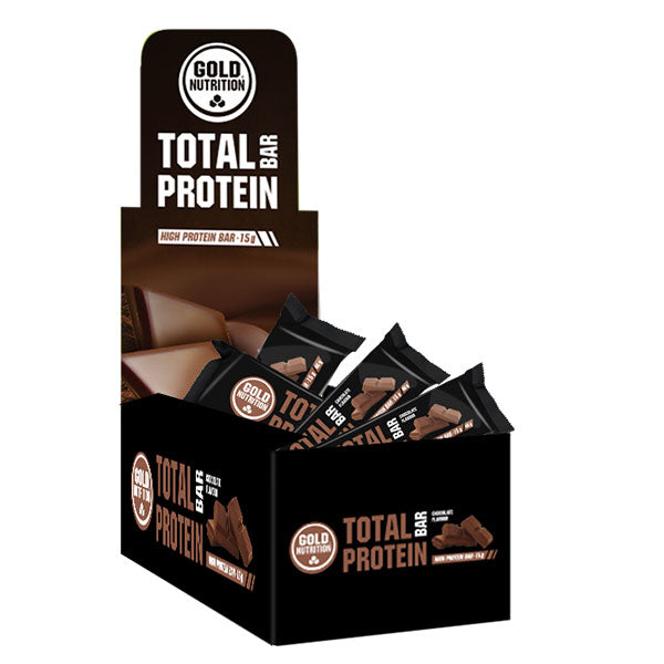 Nutri-bay | GOLD NUTRITION - Total Protein Bar (46g) - Cioccolato - Box