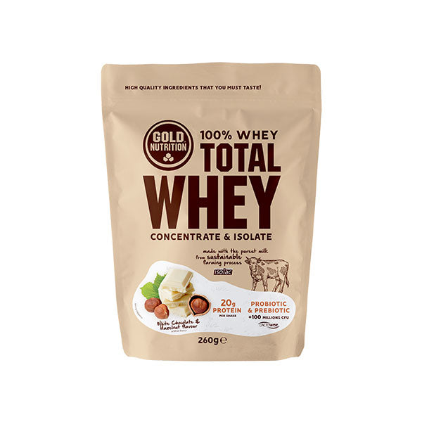 Nutri-bay | GoldNutrition - Total Whey (260g) - White Chocolate & Hazelnut