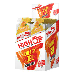 Nutri-Bay HIGH5 EnergyGel PLUS Caféine Box - Orange