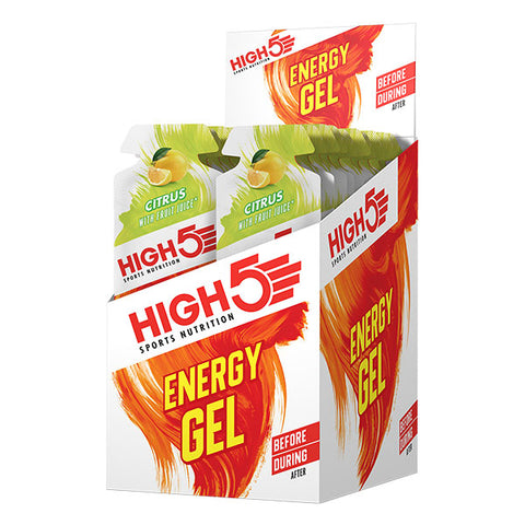 Nutri-Bay HIGH5 - EnergyGel (40g) - Agrumes (Citrus) - Box