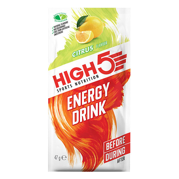 Nutri-Bay HIGH5 – Boisson Energy Drink (47g) - Agrumes (Citrus) - sachet