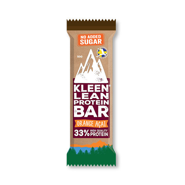 Nutri-Bay Kleen Lean - 33% Proteinriegel (50g) - Orange Acai