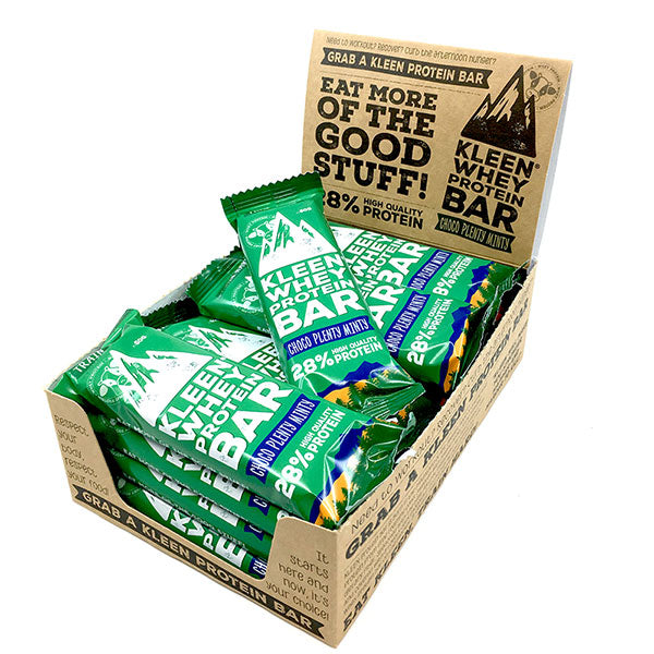 Nutri-Bay KLEEN Protein Bar 28% (60g) - Choco Plenty Minty Box