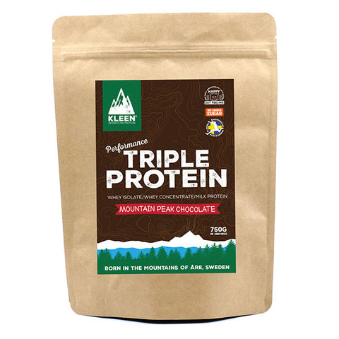 Nutri-Bay Kleen Boisson Triple Protein (750g) - Mountain Peak Chocolate