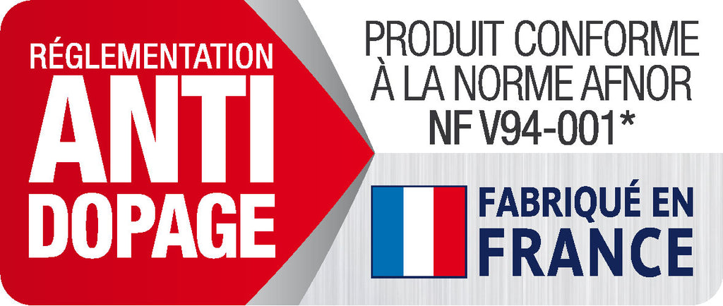 Anti-Doping and made in France labels