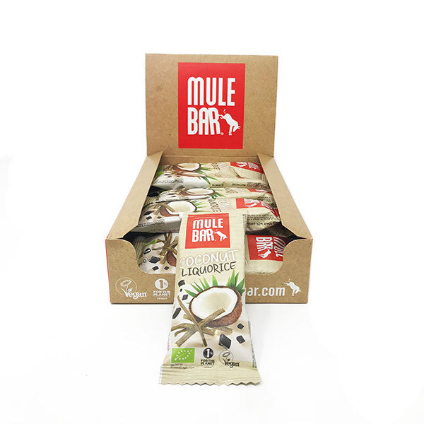 utri-Bay Mulebar - Energy Bars Box (15x40g) - Licorice Coconut