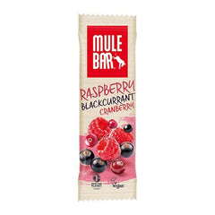Nutri-Bay MULEBAR - Barre Énergétique (40g) - Raspberry Blackcurrant Cranberry - Framboise Cassis Canneberge