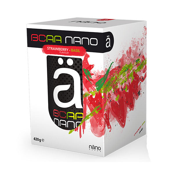 Nutri-Bay | NANO Ä - BCAA Nano (420g) - Strawberry-Basil