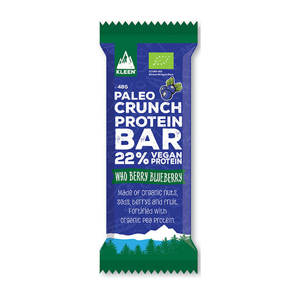 Paleo Crunch - Barretta di recupero vegana biologica (48g) - Mirtillo