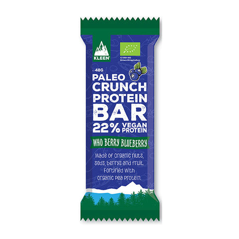 Nutri-Bay PALEO CRUNCH - Barra de proteínas / orgânica 20% - Mirtilo - Who Berry Blueberry