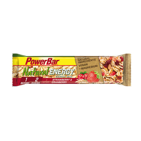 Nutri-Bay Natural Energy Cereal Energy Bar (40g) - Aardbei & Cranberry - Aardbei & Cranberry
