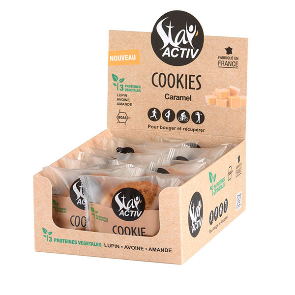Nutri-bay | STAY'ACTIV - Vegan Protein Cookie (30g) - Caramel - Box