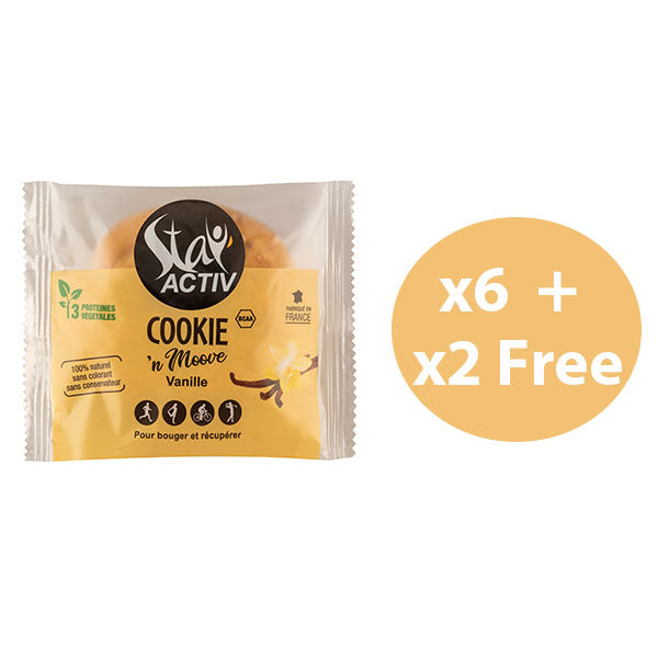 Nutri-Bay | STAY'ACTIV - 6 + 2 Free Cookie Pack (8x30g) - Vanilla