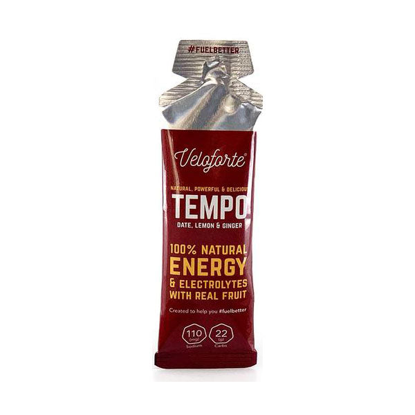Nutri-Bay Veloforte Tempo Energy Gel (33g) - Datte, Citron et Gingembre