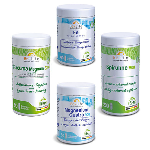 Nutri-Bay Winter cure - Basic pack - Curcuma Fer Magnésium Spiruline
