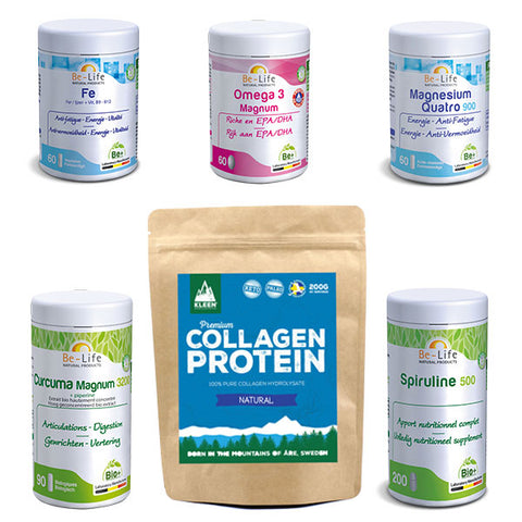 Nutri-Bay Winter cure - Advanced pack - Curcuma Fer Magnésium Spiruline Omega 3 Collagen