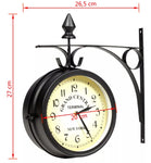 New York Retro Style Double-Sided Station Clock