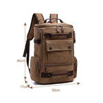 Vintage Style Canvas Backpack