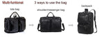 Multi-Function Full Grain Genuine Leather Weekend Travel Bag