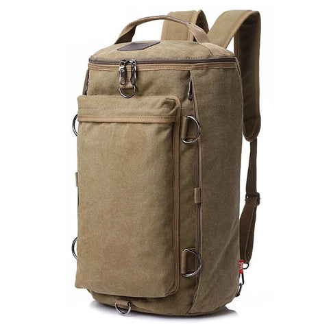 Vintage Style Large Capacity Travel Duffel Bag Backpack