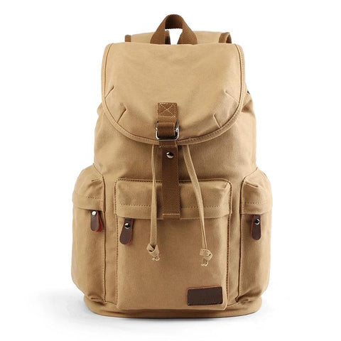Lightweight Vintage Style Canvas Backpack